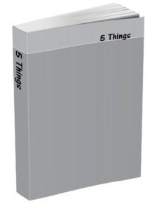 5 Things Journal - French Grey