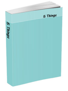 5 Things Journal - Caribbean Blue