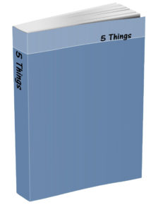 5 Things Journal - Blue-Gray