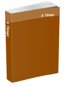 5 Things Journal - Ginger Brown