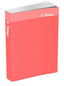 5 Things Journal - Coral