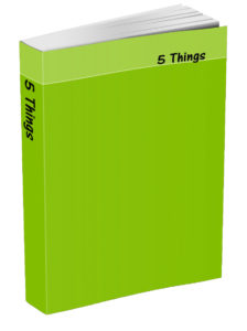 5 Things Journal - Lime Green