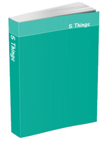 5 Things Journal - Persian Green