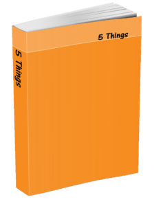 5 Things Journal - Tangerine Orange