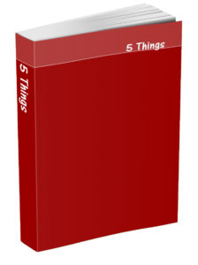 5 Things Journal - Brick Red