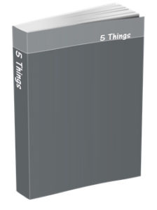 5 Things Journal in Slate Gray