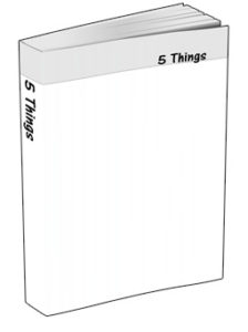 5 Things Journal in White