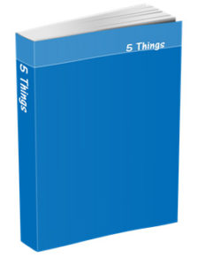 5 Things Journal in Cobalt Blue