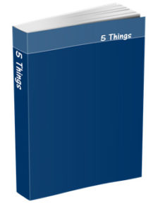 5 Things Journal in Navy Blue