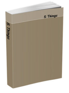 5 Things Journal in Khaki Brown