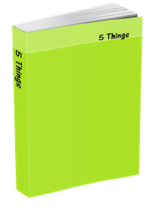 5 Things Journal in Chartreuse Green
