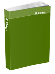 5 Things Journal in Olive Green