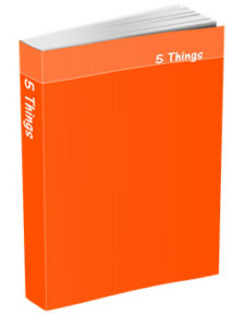 5 Things Journal in International Orange