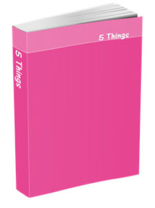 5 Things Journal in Fuchsia