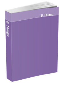 5 Things Journal in Deluge Purple