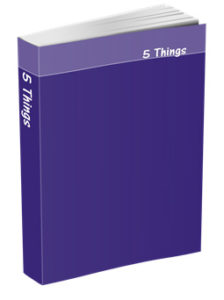 5 Things Journal in Purple
