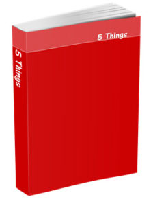 5 Things Journal in Red