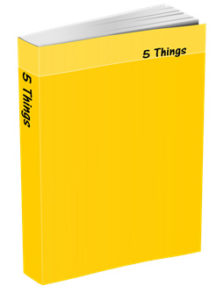 5 Things Journal in Sunshine Yellow
