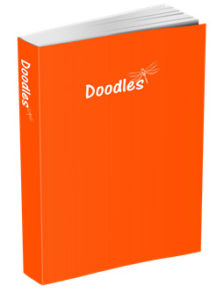Doodles Journal in International Orange