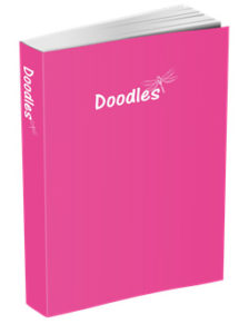Doodles Journal in Fuchsia
