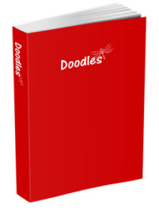 Doodles Journal in Red