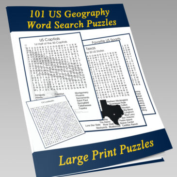 US Geography Word Search Puzzle Book