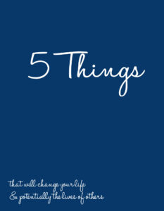5 Things Benefits - Downloadable PDF