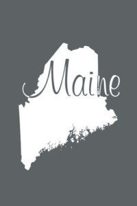 Maine Notebook Cover in Slate Grey