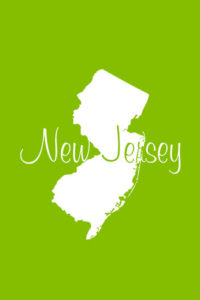 New Jersey Notebook Cover in Lime Green
