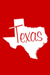 Texas Notebook Cover in Red