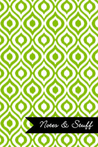 iKat Lime Green Notebook Cover