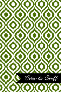 iKat Olive Green Notebook Cover