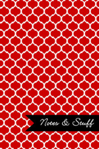 Moroccan Trellis Red Notebook Cover