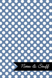 Polka Dot Patterned Blue-Gray Notebook Cover
