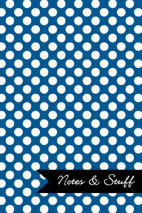 Polka Dot Patterned Oxford Blue Notebook Cover