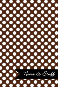 Polka Dot Patterned Cocoa Brown Notebook Cover