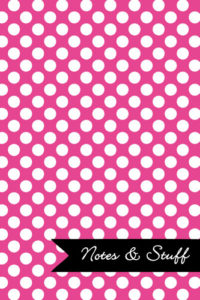 Polka Dot Patterned Fuchsia Notebook Cover