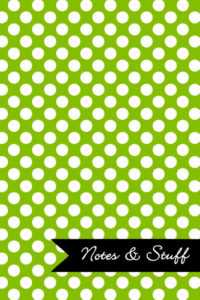 Polka Dot Patterned Lime Green Notebook Cover