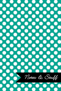 Polka Dot Patterned Persian Green Notebook Cover