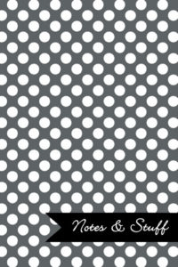 Polka Dot Patterned Slate Grey Notebook Cover