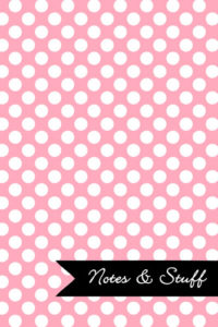 Polka Dot Patterned Pale Pink Notebook Cover