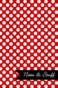 Polka Dot Patterned Red Notebook Cover