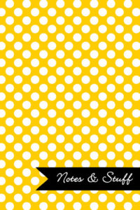Polka Dot Patterned Sunshine Yellow Notebook Cover