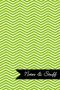 Chevron Lime Green Notebook Cover