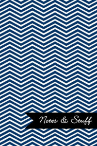 Chevron Navy Blue Notebook Cover