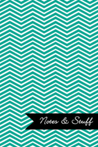 Chevron Persian Green Notebook Cover