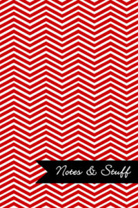 Chevron Red Notebook Cover
