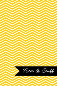 Chevron Sunshine Yellow Notebook Cover
