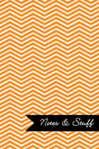 Chevron Tangerine Notebook Cover