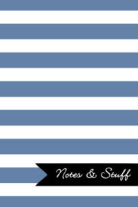 Stripes Blue-Gray Notebook Cover